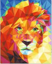 DIY Painting By Numbers -Colorful Lion  (16 x20  / 40x50cm)
