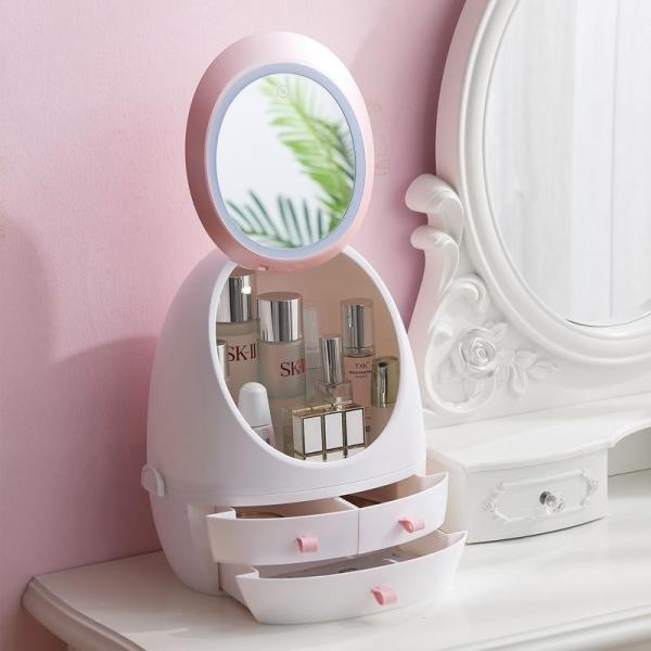 Mirror Makeup Storage Box Cosmetic