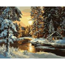 DIY Painting By Numbers - Snow Forest  (16 x20  / 40x50cm)
