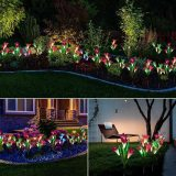 50% Off Today Only!-Spring Artificial Lily Solar Garden Stake Lights