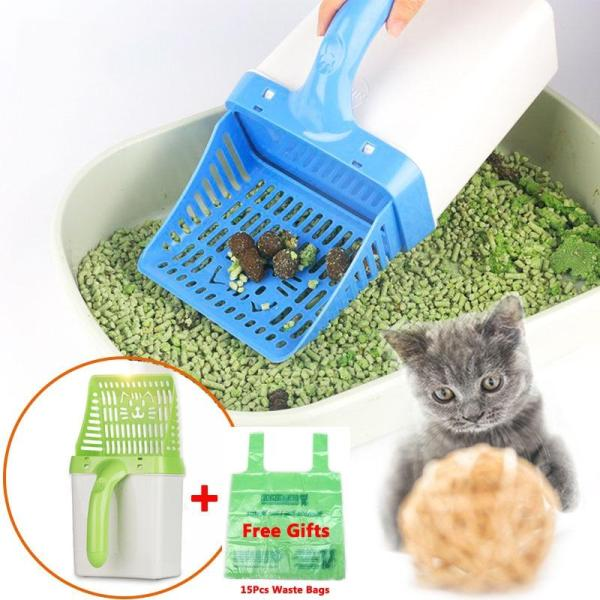 Multi-function Cat Litter Shovel + 15pcs Waste Bags