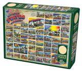 Vintage American Postcards 1000 pieces puzzle
