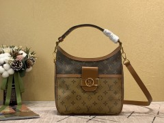 1:1 original leather louis vuitton tote bag hobo dauphine bag M45194 00008 top quality