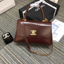 1:1 original leather Chanel coco handle tote shoulder bag A93050 00033 top quality