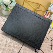 1:1 original leather Louis clutch bag pochette voyage MM M67736 00420 top quality