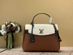 1:1 Original leather Louis Vuitton tote bag lockme ever MM M56094 for sale 01498 top quality