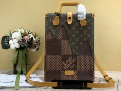 1:1 Original leather louis vuitton tote bag nigo monogram M45340 01524 top quality