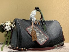 1:1 Original leather louis vuitton tote travel bag keepall bandouliere 50 M56856/M41416 01567 top quality