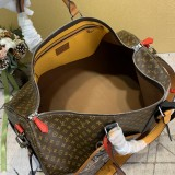 1:1 Original leather louis vuitton tote travel bag keepall bandouliere 50 M56856/M41416 01566 top quality