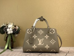 1:1 Original leather louis vuitton tote bag with strap montaigne MM M41055/M41056 01564 top quality
