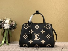 1:1 Original leather louis vuitton tote bag with strap montaigne MM M41055/M41056 01565 top quality