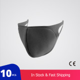 10 pcs/bag KN95 CE Certification Dust Respirator Mask Pad Against Pollution Breathable Mask Non-woven