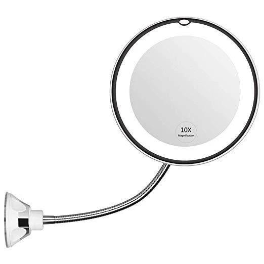 10X Magnifying Makeup Mirror Light LED Flexible