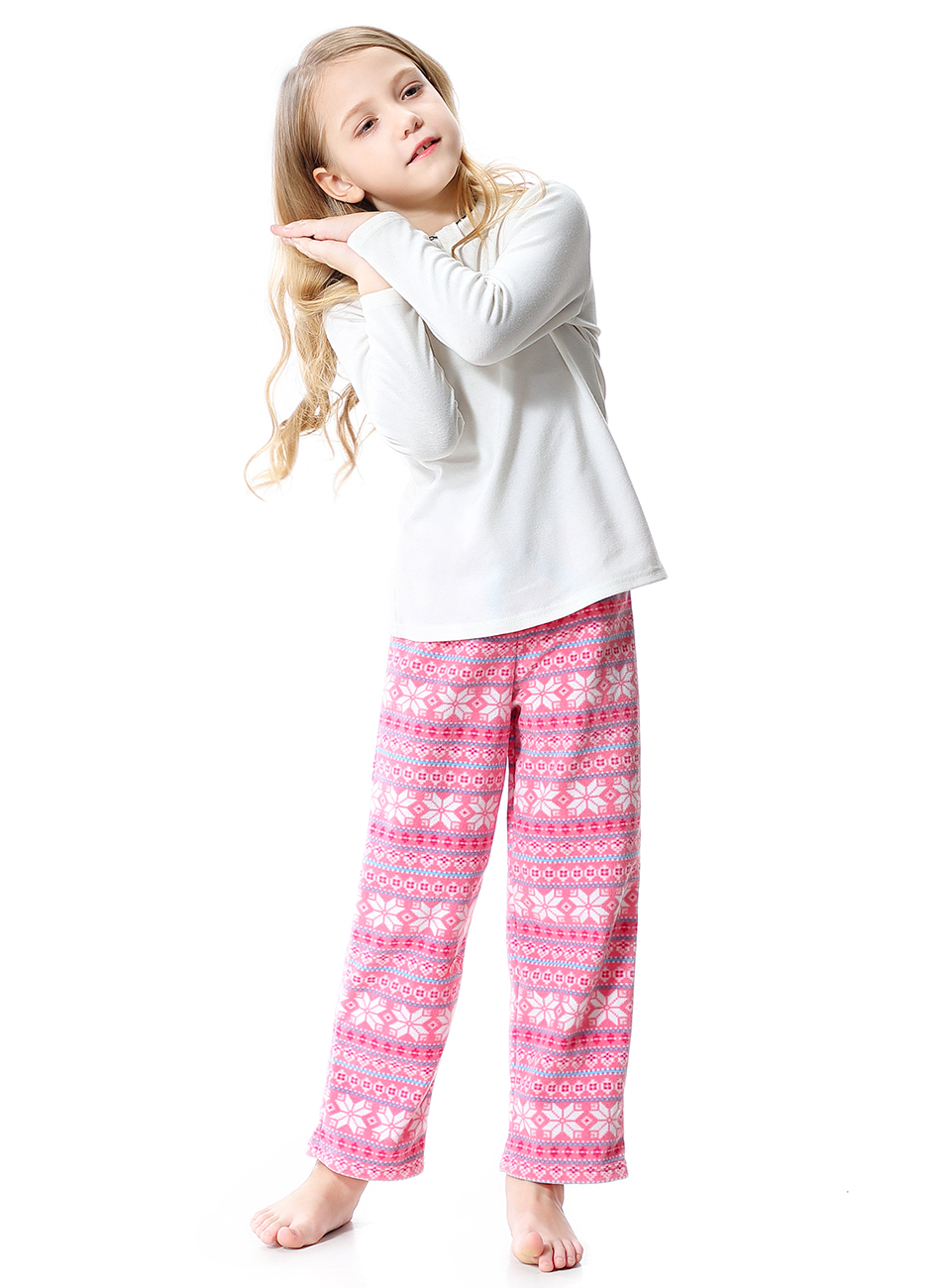 OLEH-OLEH Little Kid and Toddler Boy/'s Pajama Pants Soft Casual Loose Fleece Lounge Bottoms