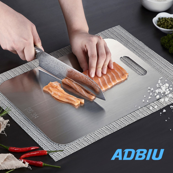 Stainless Steel Fruit Cutting Board for Choping Kitchen Butcher Block for Meat