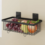 2 Pair Wall Mounted  Metal Wire Mesh Numbered Storage Basket Set/Multipurpose Accessory Organizer Rack