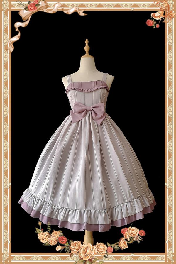 Infanta -Berece- Classic Cotton Lolita Jumper Skirts JSK Dress