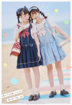 Cute.Q -Marine- Sailor Lolita High Waist JSK Jumper Skirt Dresses(2dn Pre-order)
