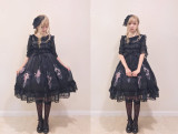 Grove Deer -Star Dust- Sweet Lolita Constellation Themed JSK Jumper Skirt Dresses Version I from Different Hemline