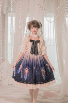 Grove Deer -Star Dust- Sweet Lolita Constellation Themed OP One Piece Dresses