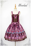 Neverland -Chocolate Bears- Sweet Lolita Salopettes