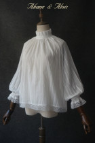 Akane & Alois -Still Water- Classic Lolita Blouses with Long Puffy Sleeves