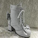 Antaina - Sweet Lolita Real Cow Leather Heels Shoes Boots