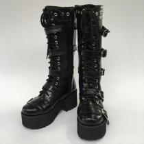 Antaina - Punk Lolita Metal Belt Buckles High Platform Boots