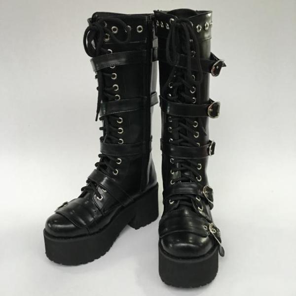 Antaina - Punk Lolita Metal Belt Buckles High Platform Boots