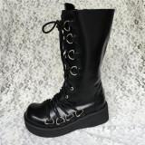 Antaina - Punk Lolita High Platform Boots With Metal Buckles