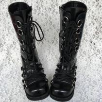 Antaina - Punk Lolita High Platform Boots With Metal Buckles