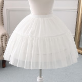 Bell Shaped A-line Shaped 46cm Long Adjustable Puffy Level Chiffon  Lolita Petticoat
