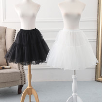 A-line Shaped 48cm Long Glass Yarn Puffy Lolita Petticoat