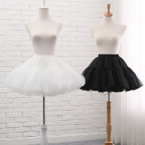 A-line Shaped 42cm Long Glass Yarn Puffy Lolita Petticoat