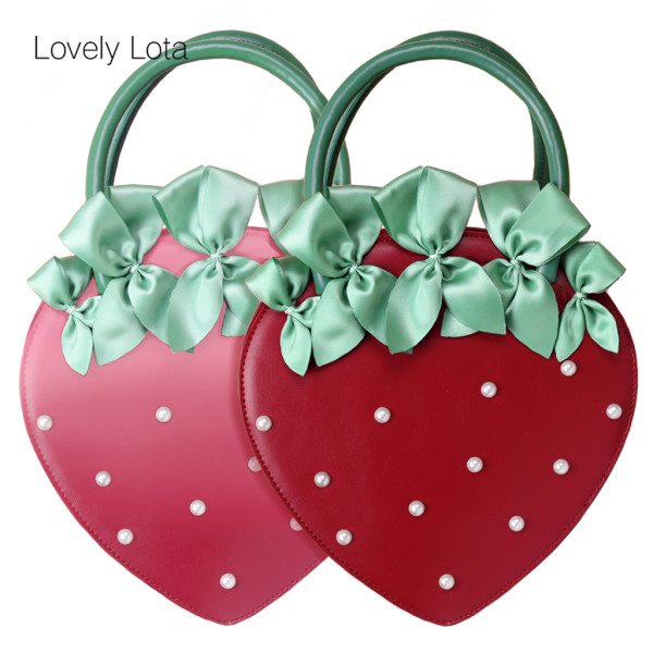 Lovely Lota - Strawberry Sweet Lolita Bag with Beads