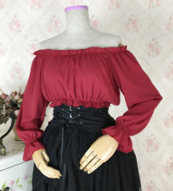 Sweet Off Shoulder High Waist Lolita Blouse