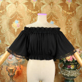 Sweet Chiffon Flare Sleeve Off Shoulder High Waist Lolita Blouse