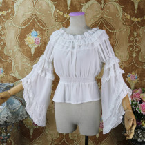 Classic Long Sleeve Off Shoulder Lolita Blouse