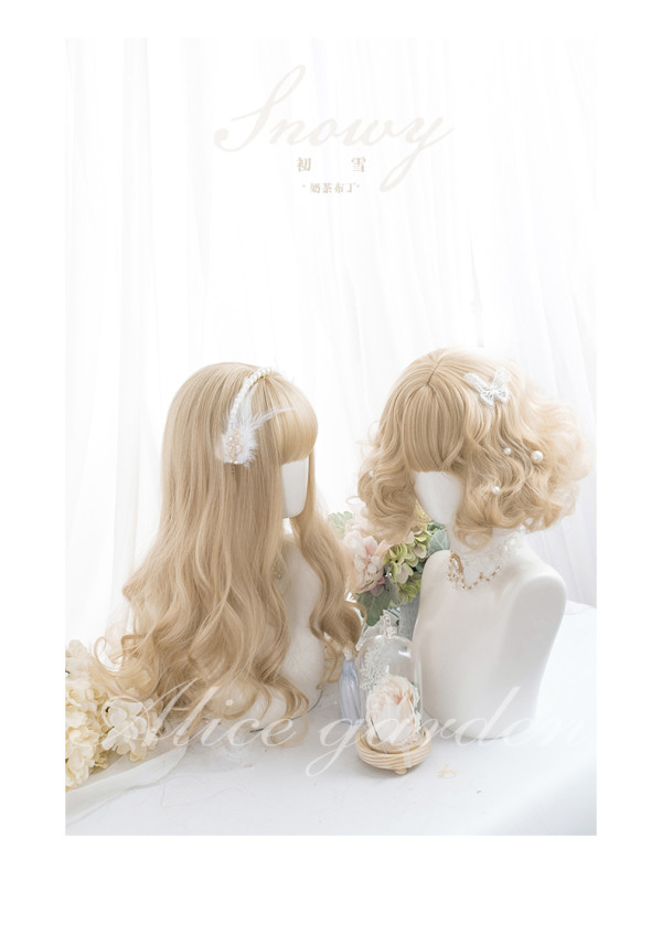 Alice Garden - 62cm Long and 32cm Short Curly Wavy Blonde Lolita Wig