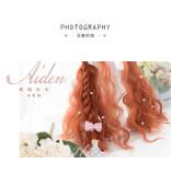 Alice Garden - 65cm Long Big Curly Wavy Dark Orange Lolita Wig