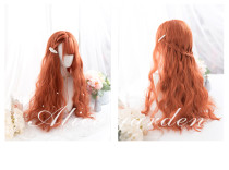 Alice Garden - 65cm Long Big Curly Wavy Dark Orange Lolita Wig