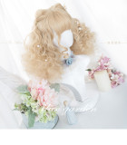 Alice Garden - 40cm Middle Length Curly Gold Lolita Wig