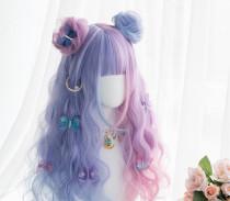 Alice Garden - 65cm Long Curly Wavy Sweet Colored Pastel Rainbow Lolita Wig