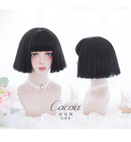 Alice Garden - 27cm Short Straight Black Lolita Wig