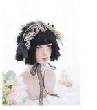 Alice Garden - 27cm Short Straight Black Lolita Wig
