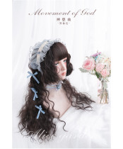 Alice Garden - 70cm Long Curly Wavy Black Brown Lolita Wig