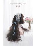 Alice Garden - 70cm Long Curly Wavy Black Brown Lolita Wig