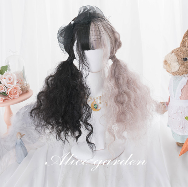 Alice Garden - Long Split Color Lolita Wig