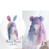 Alice Garden - 65cm Long Curly Wavy Sweet Colored Pastel Rainbow Lolita Wig