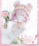 Alice Garden - 30cm Short Big Curly Wavy Pastel Rainbow Pink Lolita Wig